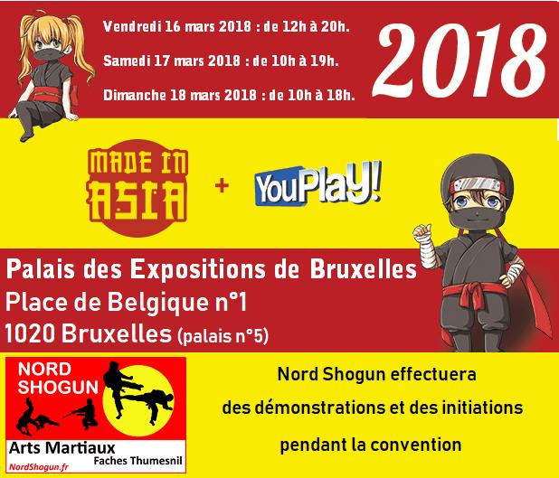 Nord shogun au salon made in asia 2018 bruxelles nord shogun for Salon made in asia